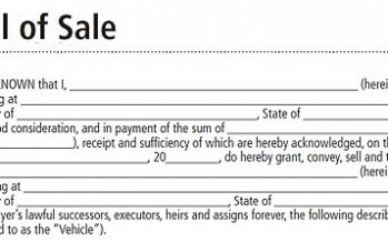 Bill of Sale Legal Forms for Each State