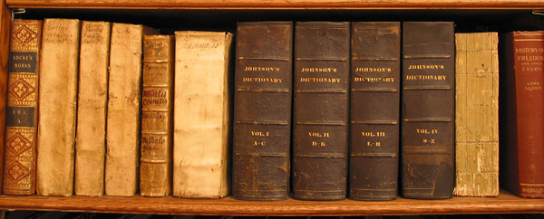 Old books on a shelf