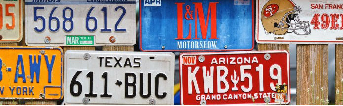 License plate search and lookup tools and databases