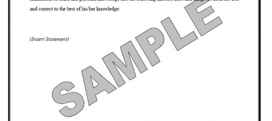 Affidavit: A Document Representing the Legal Sworn Statement of Fact