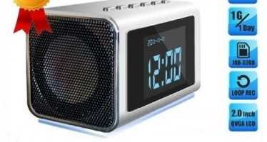 Secret Spy Camera Mini Clock Radio with Hidden DVR