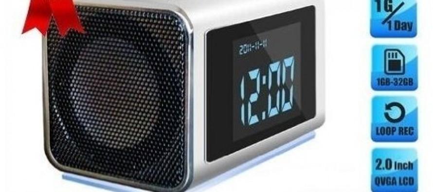 Secret Spy Camera Mini Clock Radio with Hidden DVR