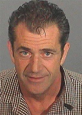 Mel Gibson arrest photograph