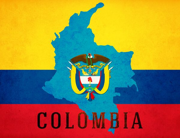 Columbia South America Flag